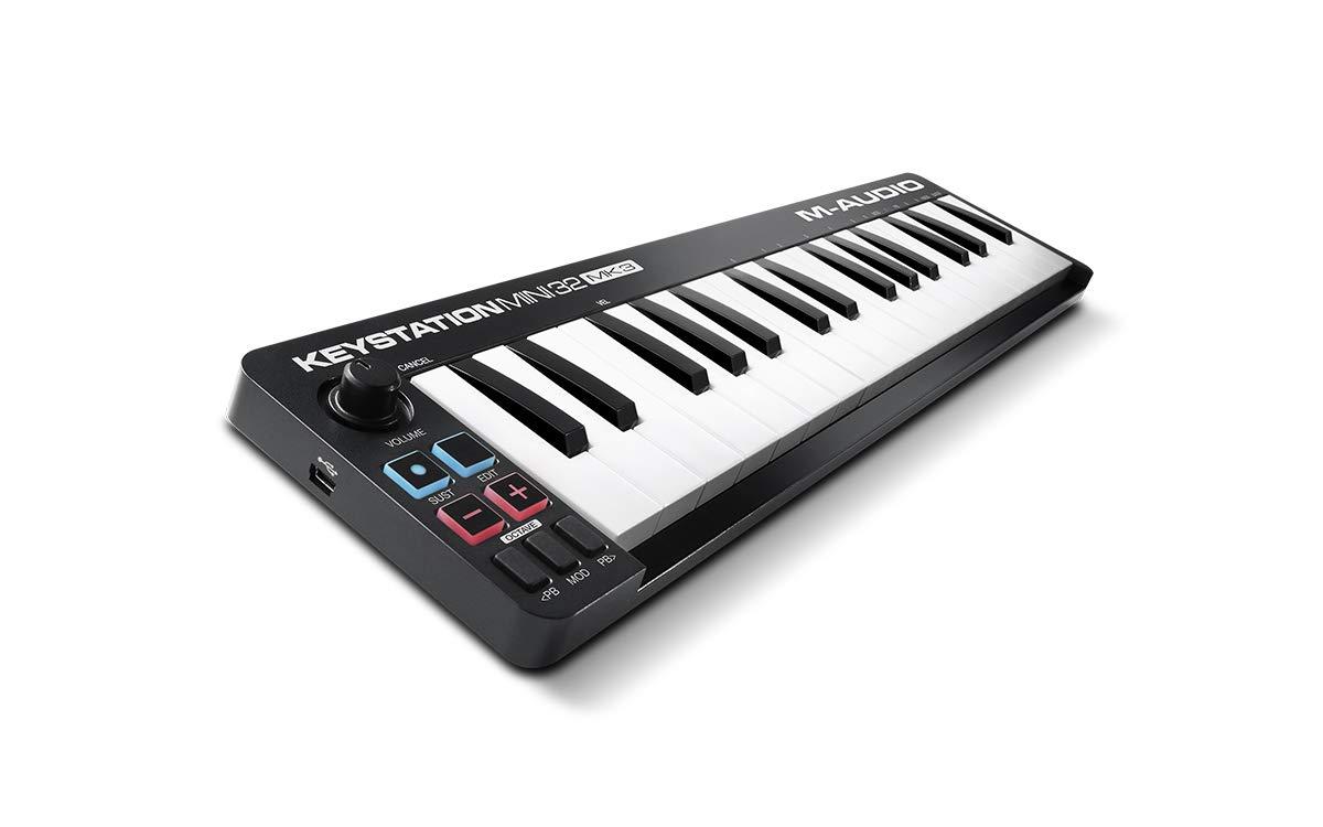 M-Audio Keystation Mini 32 MK3 - Miniteclado Controlador MIDI/USB Ultraportátil con ProTools