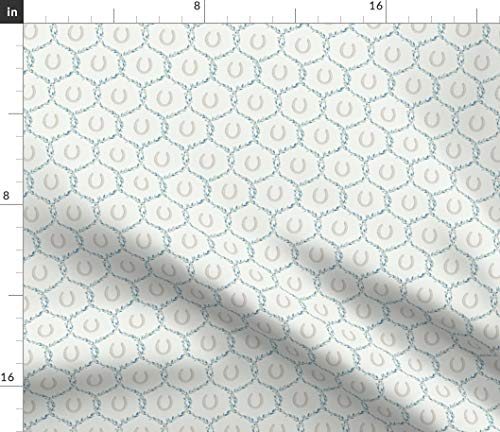 Spoonflower Fabric - Vines and Horseshoes - by Ragan Printed on Petal Signature Cotton Fabric by The Yard ()