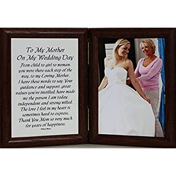 Amazoncom To My Mother On My Wedding Day 8x10 Frame With Poem And