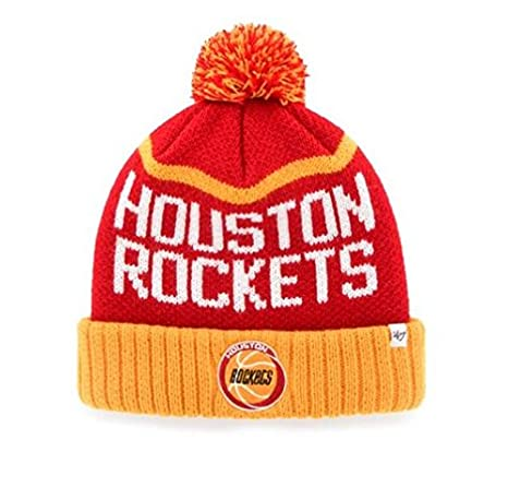 Image Unavailable. Image not available for. Color  Houston Rockets Knit Pom  Beanie Hat ... 621d4b00340