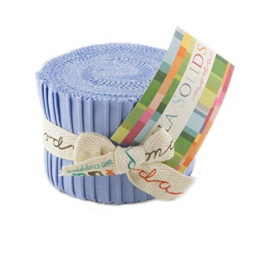 - Bella Solids Baby Blue Jr Jelly Roll (9900JJR 32) by Moda House Designer for Moda