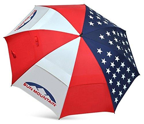 Cheap Sun Mountain Golf – UV Manual Umbrella USA Flag