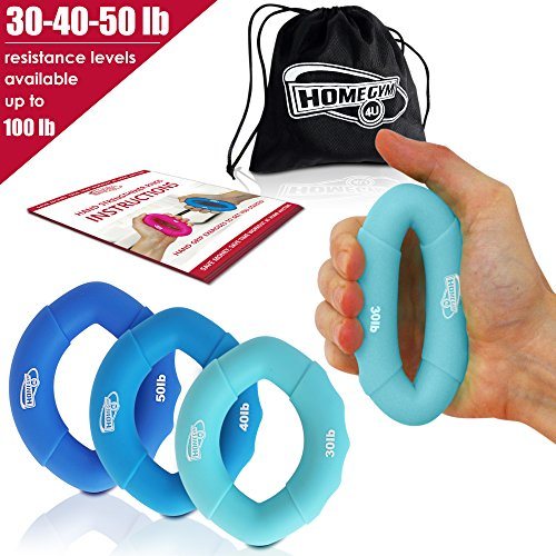 Grip Strength Trainer and Hand Strengthener - Hand Grip Strengthener and Grip Rings with 30-50lb Resistance - This Forearm Grip Workout is The Best Hand Exerciser Grip Strengthener for Carpal Tunnel