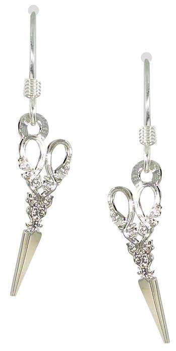 60e829157 Amazon.com: Sienna Sky Silvery Antique Scissor Earrings 1847: Jewelry