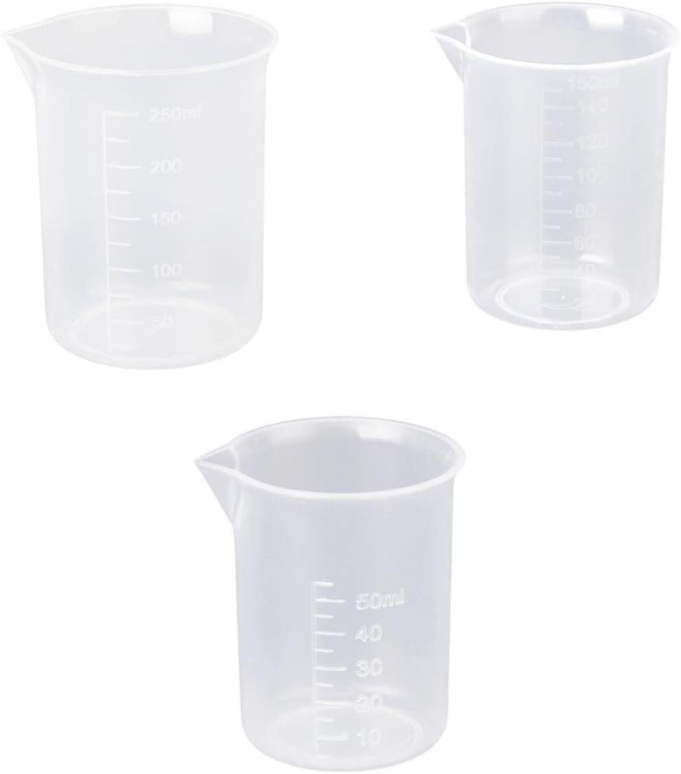 Graduado Vaso de Laboratorio Probeta de Plástico 50ml/150ml/250ml