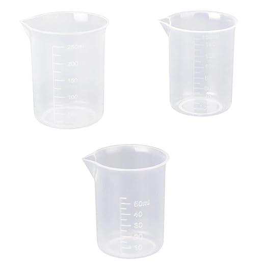Graduado Vaso de Laboratorio Probeta de Plástico 50ml/150ml/250ml: Amazon.es: Hogar