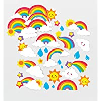 Baker Ross Self-Adhesive Foam Rainbow Decoration Stickers | Fun Arts and Crafts Project | No Glue or Scissors Needed | Pack of 120