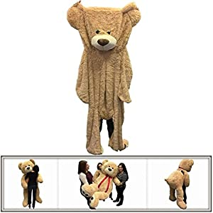 """72"""" (6 Feet) Giant Un-stuffed Teddy Bear Cover Tan ( Semi-Finished, Un-stuffed Skin, No Stuffing, Only Outer Shell with Zipper) 183 cm - 51RaMwNbs5L - 72″ (6 Feet) Giant Un-stuffed Teddy Bear Cover Tan ( Semi-Finished, Un-stuffed Skin, No Stuffing, Only Outer Shell with Zipper) 183 cm"""