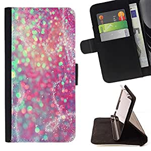 - Glitter Teal Pink Purple Sparkly Snow/ Personalized Design Custom Style PU Leather Case Wallet Flip Stand - Cao - For HUAWEI P8 Lite