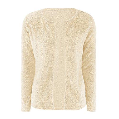 Giacche Autunno Crema Di Manica Colore Cappotti Cardigan A Maglieria Maglie Color Lunga Donnamanica Solido Sweater qFwBFC4