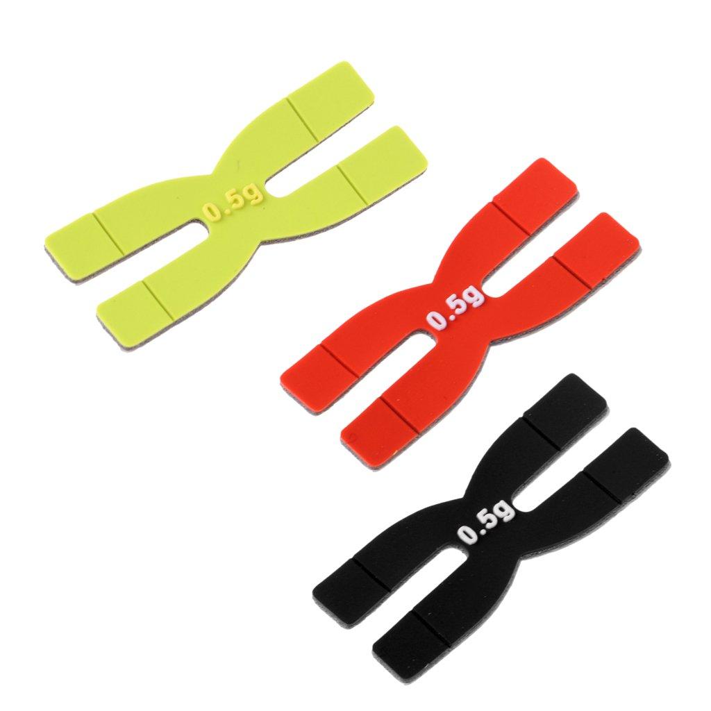Baosity 3Pcs/Lot 0.5g Tennis H Shape Weight Power Strips Weight Racquet Balance Accessory