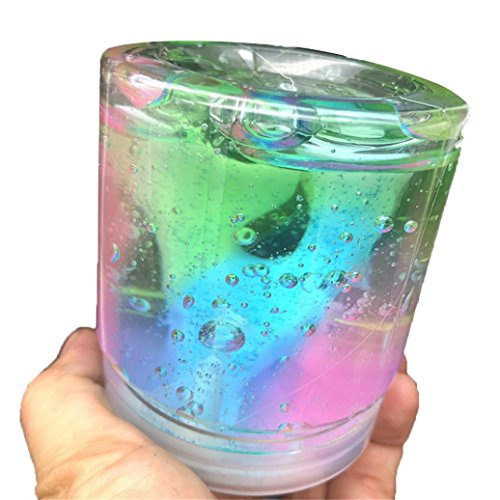 Malbaba Cool Beautiful Color Mixing Cloud DIY Slime Supplies Squishy Fluffy Slime Stuff Scented Stress Kids Rainbow Floam Slime Clay Cheap Slime Kit Toy Homemade Slime Floam Beads for Slime -