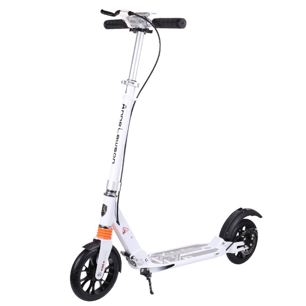 Zhongcrystal Adult Pedal Scooter Two-wheel Aluminum Alloy Two-wheel Collapsible Scooter Color : Black