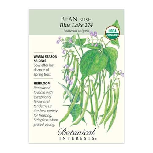 Bean Bush Blue Lake 274 Organic
