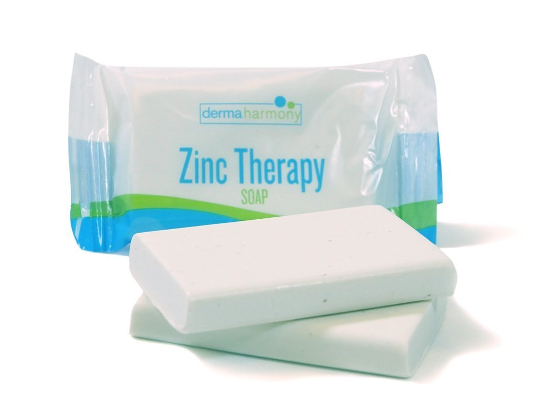 DermaHarmony 2% Pyrithione Zinc (ZnP) Bar Soap 4 oz / 113 g - Crafted for Those with Skin Conditions - Sebortheic Dermititis, Dandruff, etc.