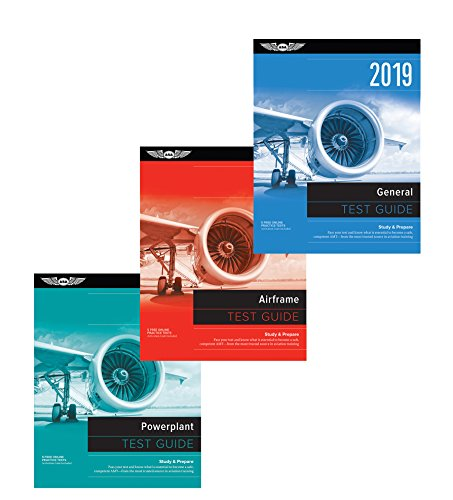 ASA AMT Test Guide Bundle - Airframe, Powerplant & General from ASA