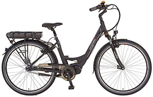 Prophete Damen Elektrofahrrad E-Bike Alu-City 28 Zoll E-Novation premium mit Rücktritt Navigator 6.7, schwarz matt, 46, 52556-0111