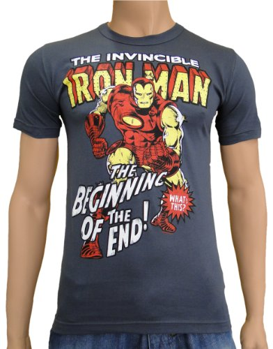 Iron Man Logoshirt T-Shirt Darkgrey, M
