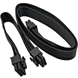 COMeap CPU 8 Pin male to Dual PCIe 2x 8 Pin (6+2) male Power Adapter Cable for Corsair Modular Power Supply 24-inch+8-inch (62cm+21cm)