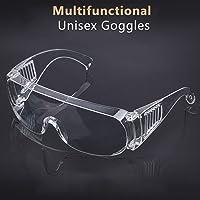 نظارات مينستاي الواقية للمختبر، نظارات السلامة، شفافة من البولي كربونيت، واقية ضد الابخرة وعالية المقاومة