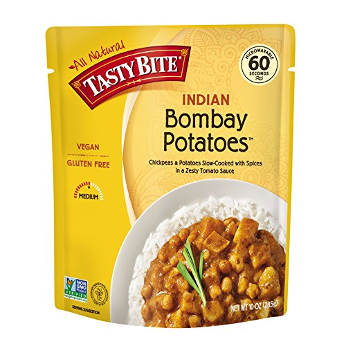 Tasty Bite Indian Entrée, Bombay Potatoes, 10 Ounce (Pack of 6)