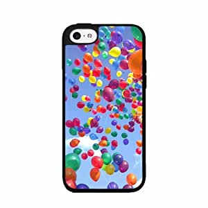 Balloons in a Clear Blue Sky- Case Back Cover (iPhone 5c Black - Plastic)