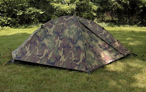 Eureka TCOP Military Issue One man Combat Woodland Camo Tent Double Vestibule with Rainfly ICS 2000