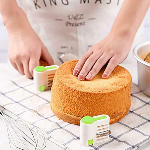 DIY Kitchen Tool Cake Slicer, Stratification Auxiliary, Bread Slice, Toast Cut, 5 Layers Leveler Slicer, Kitchen Fixator Tool (2PCS(Green)) by Sandistore Home (Image #4)