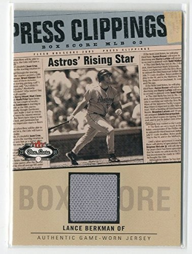 2003 Fleer Box Score Press Clippings Game Jersey #LB Lance Berkman SP Jersey - NM-MT