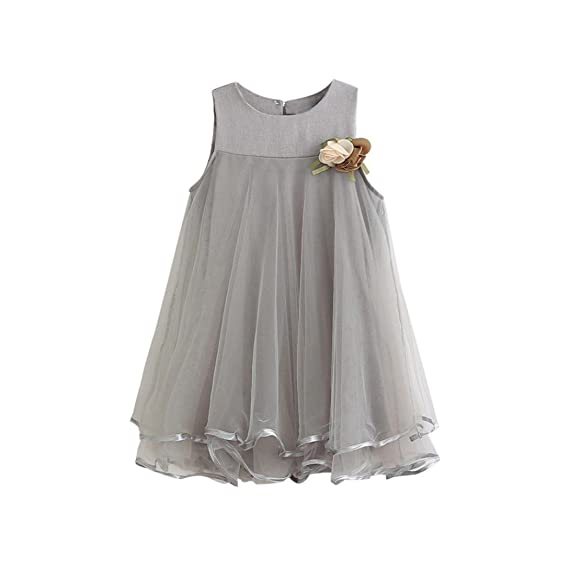 Vestido De Niñas Ropa Bebe Niña Dulce Flor Vestidos Niña