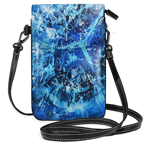 Small Cell Phone Purse For Women Leather Time Traveler Insides Card Slots Crossbody Bags Wallet Shoulder Bag