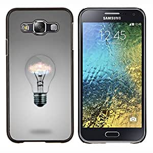 KLONGSHOP // Cubierta de piel con cierre a presión Shell trasero duro de goma Protección Caso - Ideas de la bombilla - Samsung Galaxy E5 E500 //