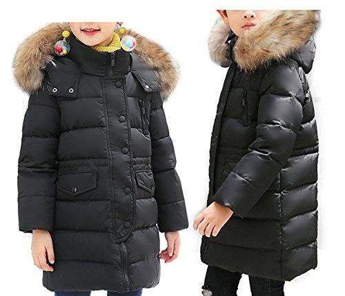 Jacket Girls Puffer Hooded (luzuoquan Comfortable Kids Babys Boy Girls Lightweight Puffer Winter Warm Coat Thicken Hoodie Down Jacket Outwear)