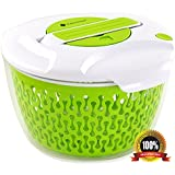 Maestoware® Salad Spinner Large 6.8 Quart - Dry Off & Drain Lettuce and Vegetable With Ease for Tastier Salads and Faster Food Prep - Easy to Use Professional Quality