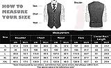 COOFANDY Men's Slim Fit Tweed Suit Vest Formal