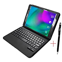 Galaxy Tab S2 T813N / T819N Keyboard case, KuGi ®-High quality Ultra-thin Detachable Bluetooth Keyboard Stand Portfolio Case / Cover for Samsung Galaxy Tab S2 T813N / T819N tablet(9.7 inch) (Black)