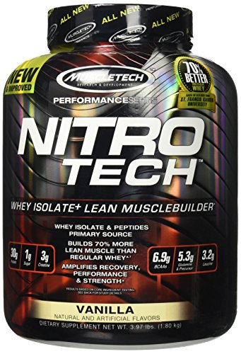 Muscletech Products - Nitro Tech Performance Series Whey Isolate Cookies and Cream - 3.97 - Nitro Cookies Tech