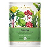 LuxaDerme Firming BioCellulose Face Sheet Mask (Pack of 1) Infused with essence containing Peptides, Ceramide, Botanical Extracts & Antioxidants to help reduce the appearance of fines Lines & wrinkles