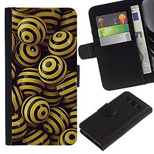All Phone Most Case / Oferta Especial Cáscara Funda de cuero Monedero Cubierta de proteccion Caso / Wallet Case for Samsung Galaxy S3 III I9300 // BLACK & YELLOW BALLS