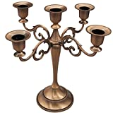 5-Candle Metal Candelabra,Copper
