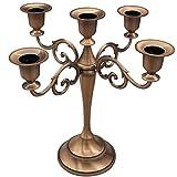 5-Candle Metal Candelabra ,Copper