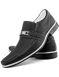 Sapato Social Masculino Bico Fino Textura Em Relevo Resistente Macio