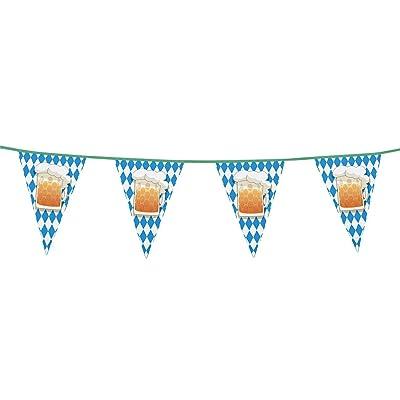 Boland 54200 - filare banderines jarra Día La cerveza, azul/blanco: Juguetes y juegos