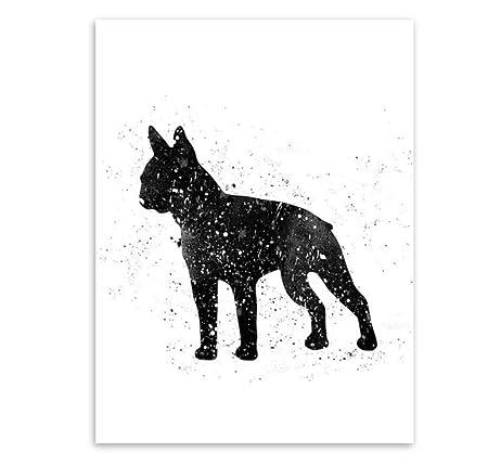 xiaohuanzi Pintura De La Lona Abstracto Negro Animal Amigo ...
