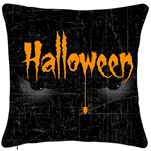 AENEY Halloween Wicked Eye Throw Pillow Cover 18 x 18 for Couch Fall Decorations Farmhouse Horrible Evil Home Decor Black Decorative Pillowcase Cotton Linen Square Cushion Case for Sofa