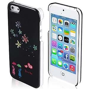 MOFY-Blanco caja de rosas de color dibujo del patr—n duro para iphone5/5s (colores surtidos)