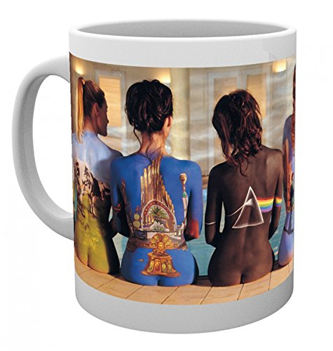 Pink Coffee Photo - Set: Pink Floyd, Back Catalogue Photo Coffee Mug (4x3 inches) And 1x 1art1 Surprise Sticker