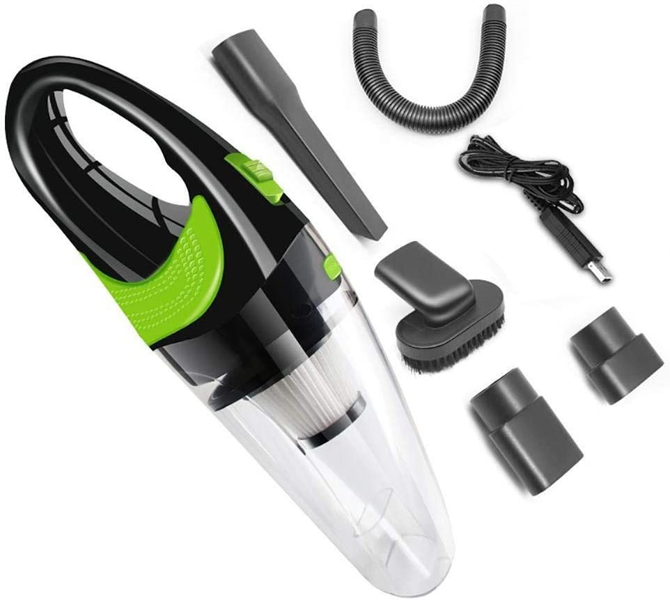 Aspirateur sans fil Haute Qualité Auto Aspirateur voiture USB sans fil Câble voiture Accueil à double usage Aspirateur for la maison Car 4000pa (Color : White) White