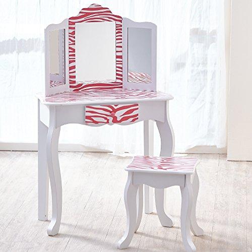 Kids Vanity Set - Modern Pink Girls Makeup