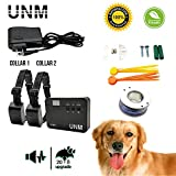 UNM 2018 Updated Dogs Electric Fence Underground Wire Dog Containment Kits with Option for Remote Trainer Rich Transmitter - Waterproof Rechargeable Collar For 2 Dogs with Tone/Vibration and Shock,